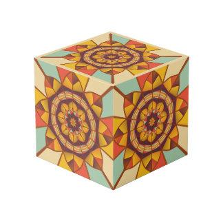 Mehrfarbige geometrische blühen würfel