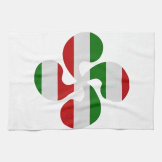 Mehrfarbige Kreuze baskisch Handtuch