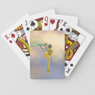 Mehrfarbige Libelle Spielkarten