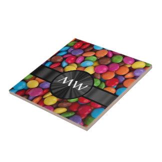 Mehrfarbige mit Monogramm Süßigkeiten Kleine Quadratische Fliese