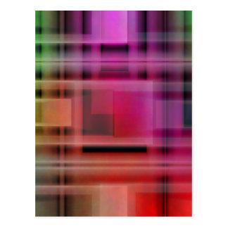 Mehrfarbige Nr. 6 des Musters geschaffen durch Postkarte