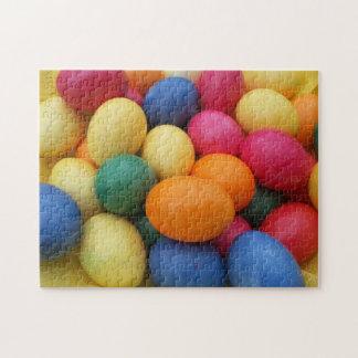 Mehrfarbige Ostereier festlich Puzzle