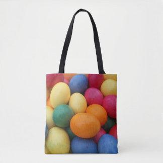Mehrfarbige Ostereier festlich Tasche