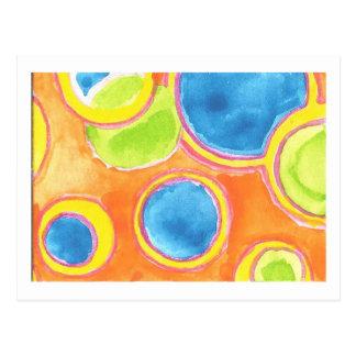 Mehrfarbige Punkt-Postkarte Postkarte