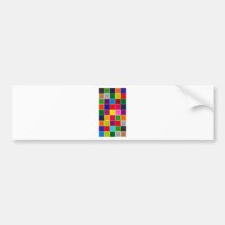 Mehrfarbige Quadrate und Streifen Girly Autoaufkleber