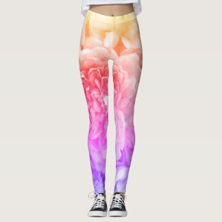 Mehrfarbige Rosen-Gamaschen Leggings
