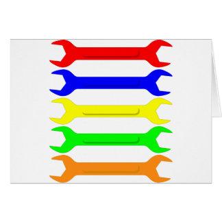 Mehrfarbige Schlüssel Karte