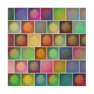 Mehrfarbige Sonnen Holzdruck