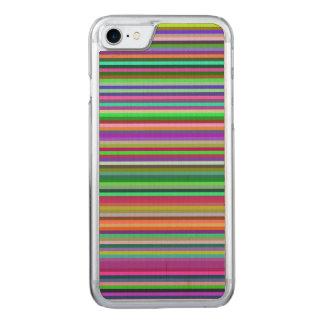 Mehrfarbige Streifen Carved iPhone 8/7 Hülle