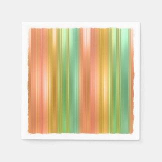 Mehrfarbige Streifen Serviette