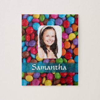 Mehrfarbige Süßigkeitens-Fotoschablone Puzzle