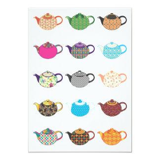 Mehrfarbige Tee-Kessel 12,7 X 17,8 Cm Einladungskarte
