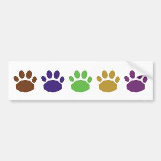 Mehrfarbige Tiertatzen-Drucke Autoaufkleber