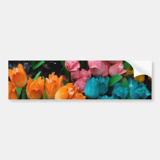 Mehrfarbige Tulpen Blumenmit blumengeschenke Autoaufkleber