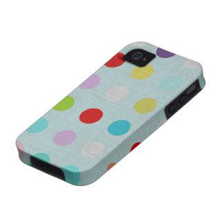 Mehrfarbige Tupfen iphone Rechtssache 4 iPhone 4 Hüllen