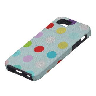 Mehrfarbige Tupfen iphone Rechtssache 4 iPhone 5 Hülle