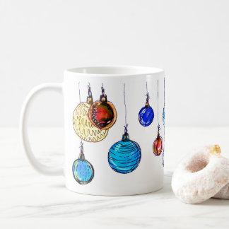 Mehrfarbige Weihnachtsbälle Kaffeetasse