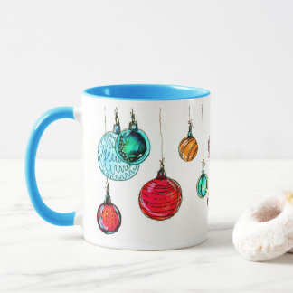 Mehrfarbige Weihnachtsbälle Tasse
