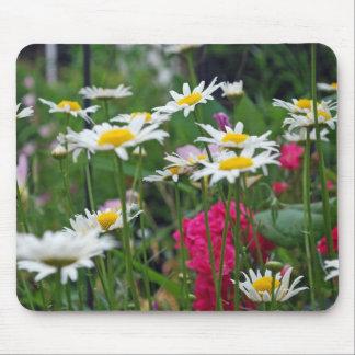 Mehrfarbige Wildblumen in einem Garten Mousepad