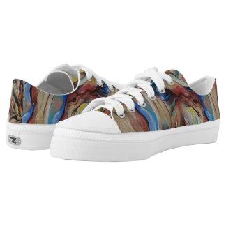 Mehrfarbige Zipz niedrige Spitzenschuhe Niedrig-geschnittene Sneaker