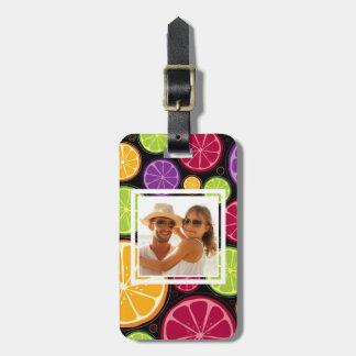 Mehrfarbige Zitrusfrucht | addieren Ihr Foto Gepäckanhänger