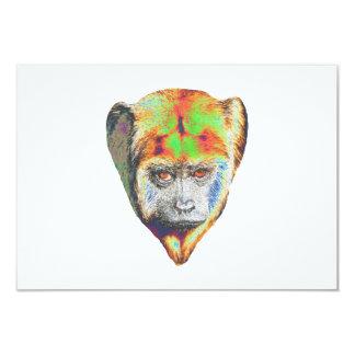 Mehrfarbiger Affe 8,9 X 12,7 Cm Einladungskarte