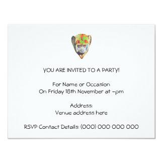Mehrfarbiger Affe Einladung