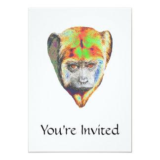 Mehrfarbiger Affe 12,7 X 17,8 Cm Einladungskarte