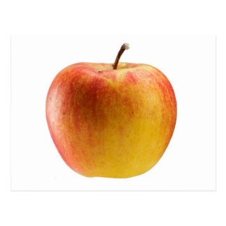 Mehrfarbiger Apfel Postkarte