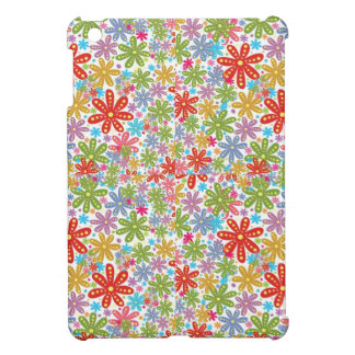 Mehrfarbiger Blumen-Entwurf Blumenmuster iPad Mini Cover