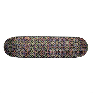 Mehrfarbiger ethnischer Karo-nahtloses Muster Individuelle Decks