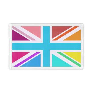 Mehrfarbiger Gewerkschafts-Jack/Flagge Acryl Tablett