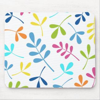Mehrfarbiger großer sortierter Blätter-Entwurf Mousepad