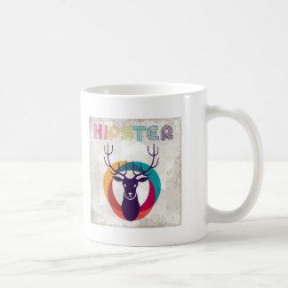 Mehrfarbiger Hipster-Rotwild-Gang Kaffee Haferl