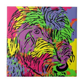 Mehrfarbiger Hund Fliese