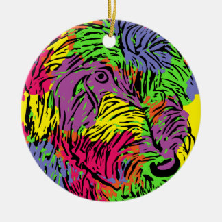 Mehrfarbiger Hund Keramik Ornament