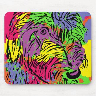 Mehrfarbiger Hund Mauspad