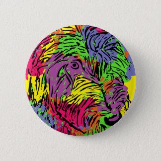 Mehrfarbiger Hund Runder Button 5,1 Cm