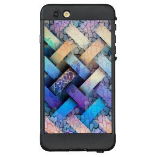 Mehrfarbiger Korbgeflecht-Entwurf LifeProof NÜÜD iPhone 6 Plus Hülle