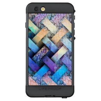 Mehrfarbiger Korbgeflecht-Entwurf LifeProof NÜÜD iPhone 6s Plus Hülle