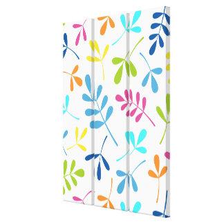 Mehrfarbiger sortierter Blätter-Entwurf Leinwanddruck