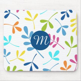 Mehrfarbiger sortierter Blätter-Entwurf Mousepad