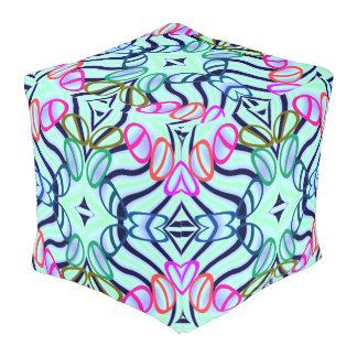 Mehrfarbiger Spaß-Designer-Puff - Zuhause Kubus Sitzpuff