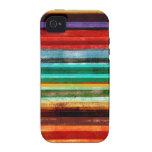 Mehrfarbiger Streifen iphone 4 Fall-abstrakte Kuns iPhone 4 Hülle