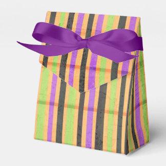 Mehrfarbiger Streifenmusterzelt-Bevorzugungskasten Geschenkkartons
