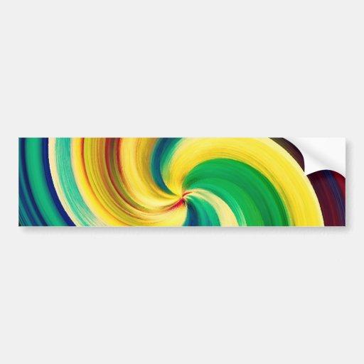 Mehrfarbiger Strudel-eleganter Entwurf Autosticker