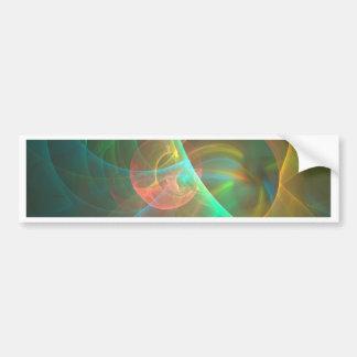 Mehrfarbiges abstraktes Fraktal Autoaufkleber