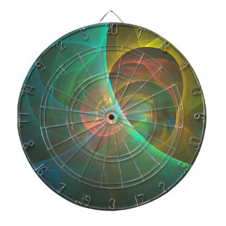 Mehrfarbiges abstraktes Fraktal Dartscheibe