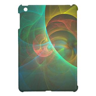 Mehrfarbiges abstraktes Fraktal iPad Mini Hülle