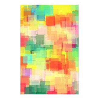 Mehrfarbiges abstraktes geometrisches Muster Personalisierte Flyer
